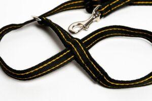 Clip to Collar Gencon Dog Headcollar Black Gold zoomed